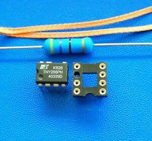 IC TNY266PN + Widerstand 47 Ohm + Sockel + Entlötlitze Bosch Siemens WM Trockner