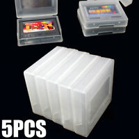 5Pcs Plastic Clear Game Cartridge Cases Box For SNK Neo Geo Pocket Color NGPC