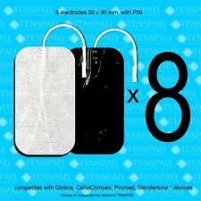 Pack 8 electrodos 50x90 mm  con conector PIN para GLOBUS
