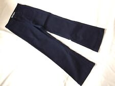 J Brand Navy Blue High Rise Wide Leg Bette Women's Jeans Luna Flares Size 24