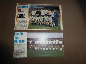 Kicker Mannschaftsfoto, Mannschaftsbild Chile 1966 WM World cup,Deutschland 1968
