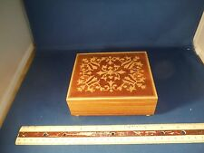 """Reuge Hand Painted Exotic Wood """"Roses From The South"""" Trinket Music Box"""