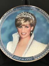 Princess Diana Of Wales Franklin Mint Collectors Tribute Plate 1961-1997