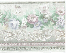 VICTORIAN FLOWERS SATIN FINISH ARCHITECTURAL STYLE  Wallpaper bordeR Wall decor