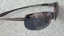 Maui Jim MJ Sport Makaha Black Flexible Designer Sunglasses Made in Japan