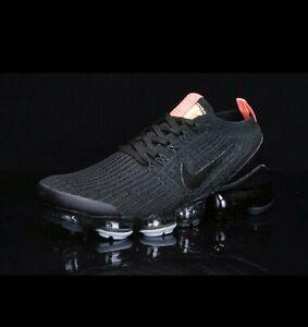 Nike air vapormax flyknit 3 Black/Orange Size UK 7