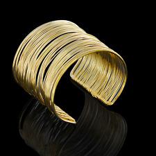Bangle Cuff Wide Bracelet Fashion Jewelry Retro Men Women Multilayers Gold Punk