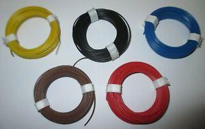 "(1m = EUR 0,129) Kupfer-Litze flexibel 0,14 mm²  5 Ringe a 10m  ""NEU"" -Farbwahl-"