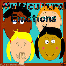 MULTICULTURAL EMOTIONS FEELINGS OURSELVES TEACHING RESOURCES EYFS KS1 2 DISPLAY