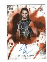 WWE Seth Rollins 2018 Topps Undisputed Orange On Card Autograph SN 59 of 99