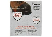 KG'S BOOT GUARD Leather Vinyl Brush-ON Toe Protector 2oz - BROWN