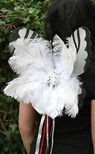 Deluxe Blanco Ice Queen De Plumas Navidad gótico Angel De Hadas Pixie alas Cosplay