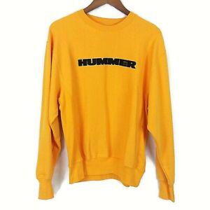 Steve & Barry's Men's Crew Neck Hummer Pullover Long Sleeve Sweatshirt XS Yellow