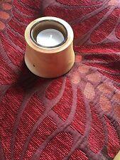 Pine Tea light Candle Holder