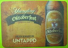 YUENGLING OKTOBERFEST Beer COASTER Mat w/ EAGLE Bottle, Pottsville, PENNSYLVANIA