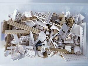 Vintage Lego Lot White Beige 2.5 LB Plates, Parts, Accessories