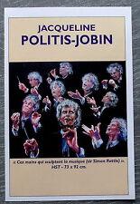 Publicité JACQUELINE POLITIS JOBIN  Peintre ANDRESY   , french advert