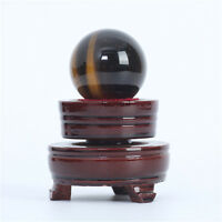100g Natural Quartz TIGER-EYE Crystal Ball Sphere Healing Reiki Gemstone + Stand