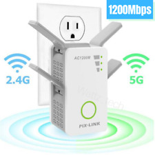 1200Mbps WiFi Range Extender Repeater Wireless Amplifier Signal Super Booster US