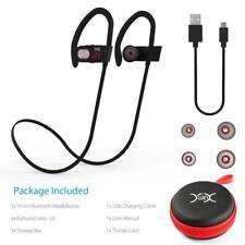 Wireless Noise Canceling In-Ear Sweat Proof Earbuds (earphone) with Mic (Black)