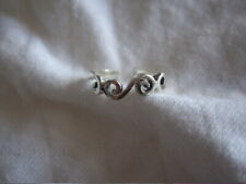 Swirls ~ 925 ~ New Sterling Silver Toe Ring ~