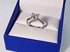 1.50 Ct VVS1 Cushion Cut Diamond Engagement Wedding Ring White Gold Finish Rings