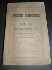 MANCEAU Oenologie Champenoise Notes documents CHAMPAGNE ENVOI Autographe 1917