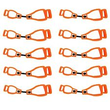 At01-10O 10 Glove Clip Holder Safety Gear Attach Gloves Towels Glasses Helmets