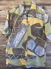 Vtg 60 70s sz S Hawaiian Shirt Liberty House Napili BarkCloth Psychedelic Hippy