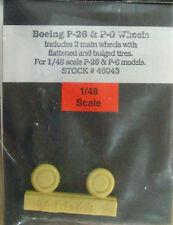 TRU DETAIL 46043 Ruote per Boeing P26 scala 1/48