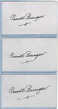 (3) CHARLIE BERINGER INDEX CARD SIGNED LOT BROOKLYN LA DODGERS PSA/DNA 1928-2011