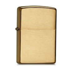 New Zippo Brushed Brass Windproof Lighter 204B