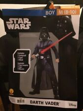 Star Wars Darth Vader Costume Boy Medium M 8-10 Disney Rubies