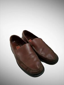Men Cole Haan Slip On Moccasin Casual Dress Loafers Brown 12 M Air Cushion