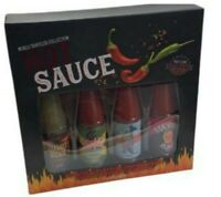 World Traveller Hot Sauce Collection Extreme Heat Chilli Sauces 4 X 48g Gift PK
