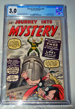 Journey into Mystery 85 1962 CGC 3.0 1st App of Loki! OW pages! 3rd Thor!