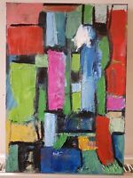 Original Painting Abstract Contemporary Modern Art Canvas Colourful Geometric