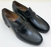 MENS 10D Regal Loafers & Slip On Black Leather Dress or Casual Shoes