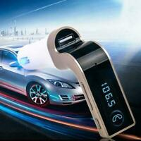 Bluetooth Car Wireless Adapter FM Transmitter MP3 Radio Kit USB Charger Car I2Z4