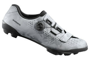 Shimano RX8 Carbon Gravel Boa MTB Cycling Shoes Silver SH-RX800 42 (US 8.3)