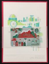 2016 Starbucks Los Angeles SE Holiday Gift Card w/ Card & Envelope