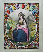 IMAGERIE WENTZEL WISSEMBOURG Peau d'ane couverture non montée litho couleur 1870
