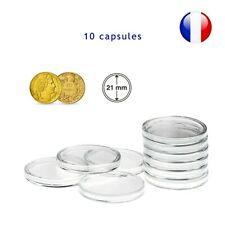 10 Capsules pour monnaie 21 mm intérieur - Protection pièce de monnaie