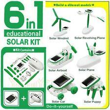 6 in 1 Solar Diy Educational Children Kits Toy Boat Fan Car Robot Puppy Toy Gift