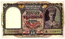 Burma ... P-28 ... 10 Rupees ... ND(1945) ... *AU-UNC*.