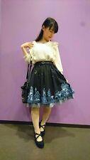 1.BNWT!axes femme fairlytail town under the magical starry sky navy frilly skirt