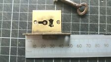 Vintage Brass -Cabinet-Drawer Lock  50mm  1 Key  (294)