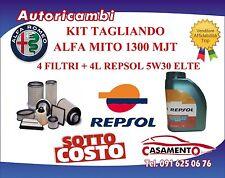 KIT TAGLIANDO FILTRI ALFA MITO 1.3 MJT DAL 1/2011 IN POI + 4L OLIO REPSOL 5W30