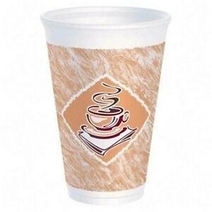12oz Dart Foam Café Design Cups (1000) Coffee Cups