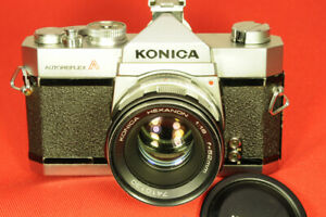 Konica Autoreflex A with Konica Hexanon 52mm f/1.8 lens and Cap